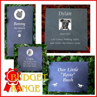 Budget Slate Pet Memorial Plaques