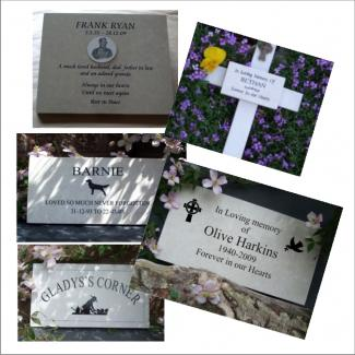 Marble Pet Memorials and Pet Memorial Plaques and Gravestones