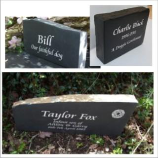 Slate Memorial Tributes, Memorials, Pet Memorials, Memorial Stones and Headstone