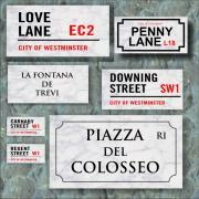 Solid Marble Street Signs