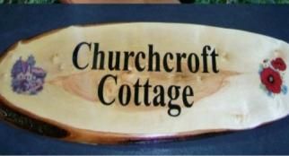 "House Signs 22""in Natural Hardwood"